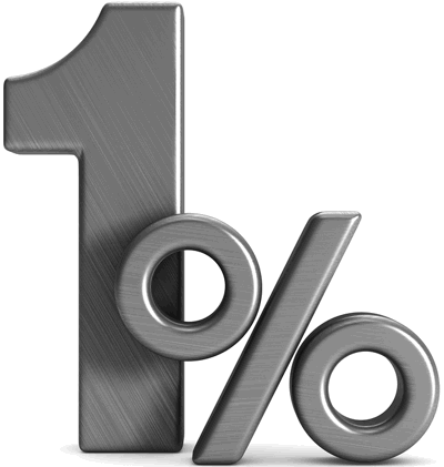 1 percent graphic