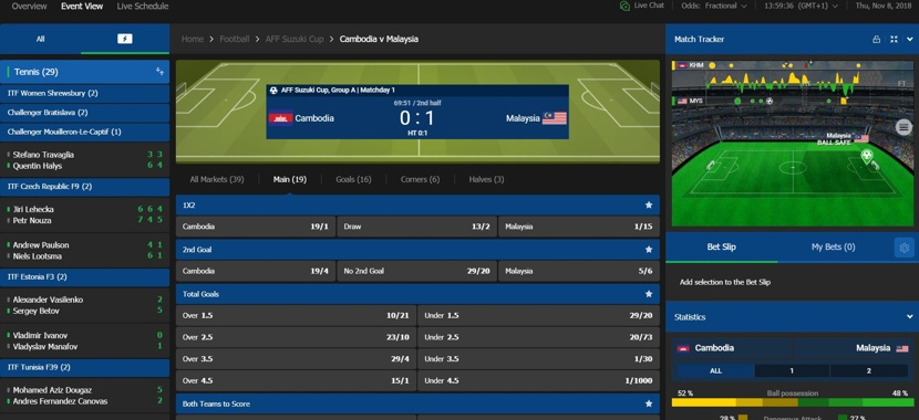 10Bet Live Betting