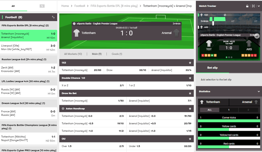 10bet live betting and streaming