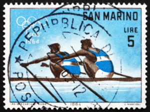 1964 Olympics rowing stamp