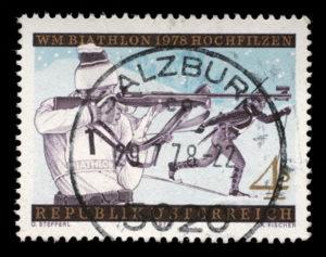 1978 biathlon stamp