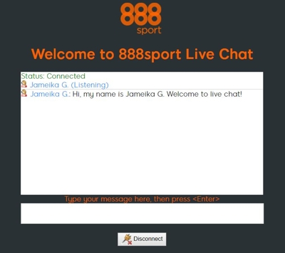 888 Live Chat