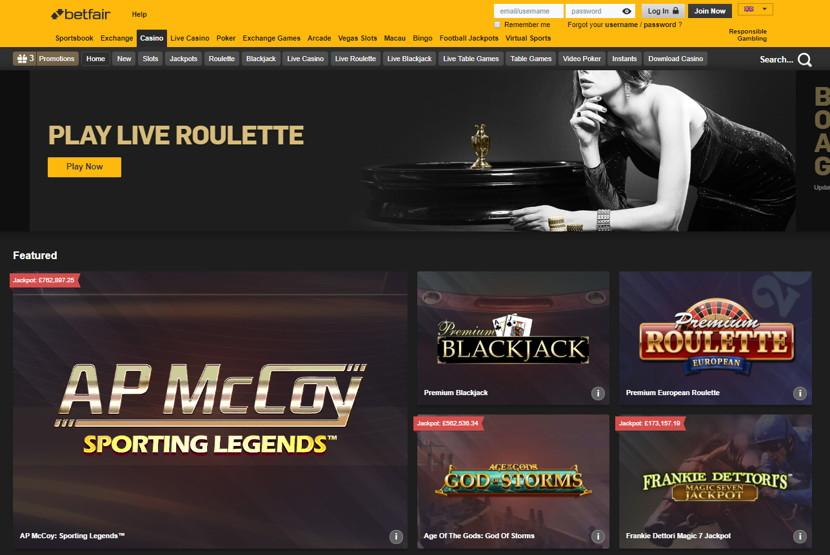 Betfair Homepage