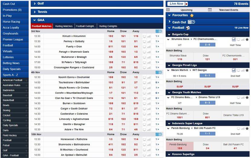 Boylesports Markets and Odds