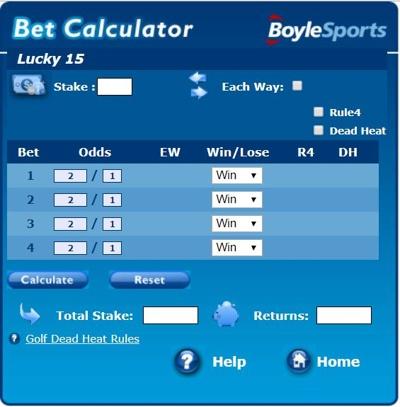 Boylesports betting calculator trackside off track betting louisville ky