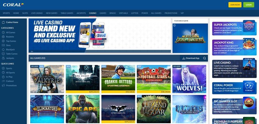 Coral Casino Review | Betting Websites UK