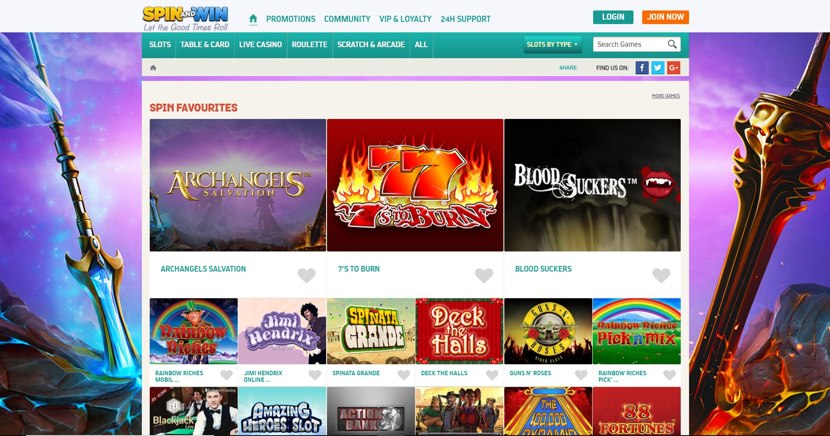 Spin and Win Homepage