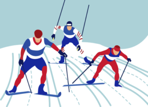 alpine skiing graphic