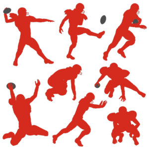 american football icons of various positions
