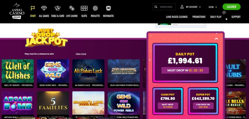 Aspers Casino Online screenshot