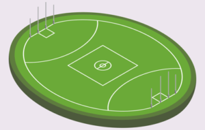 aussie rules football pitch graphic