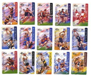 aussie rules stamp set