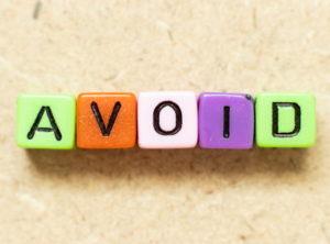 avoid spelt using letter blocks