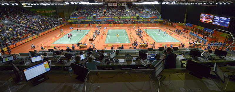 badminton courts at the olympics