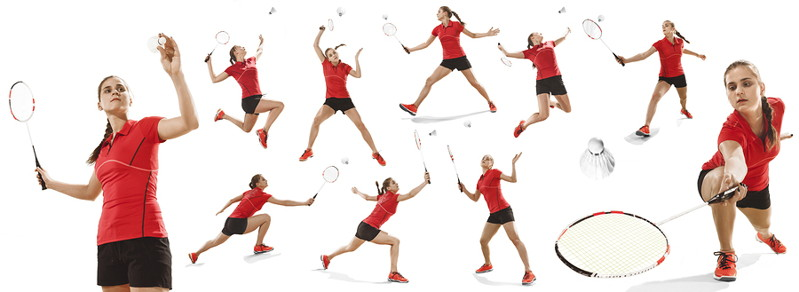 badminton various play positions