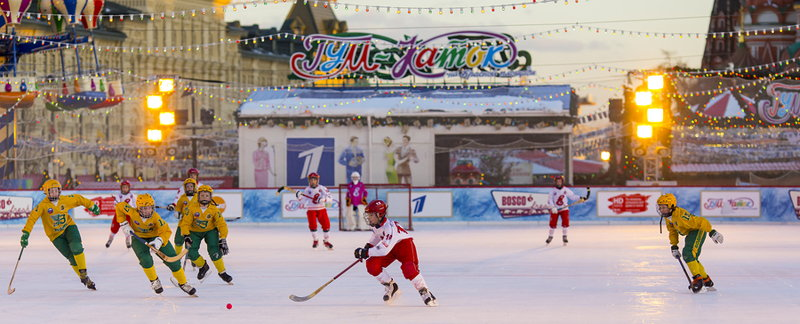 bandy game in red square