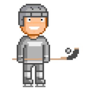 bandy player icon