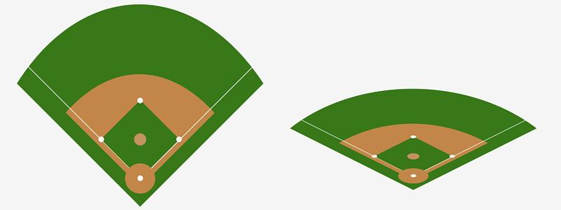 baseball field graphic