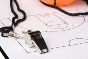 basketball chart and whistle