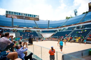 beach volleyball arena in rome