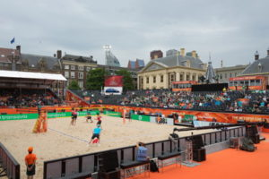 beach volleyball match in rome