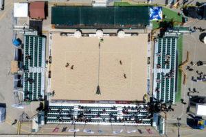 beach volleyball stadium