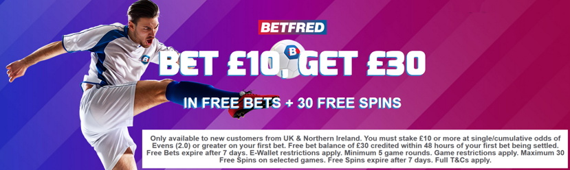 betfred main sportsbook welcome offer uk