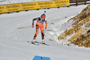 biathlon skiing downhill