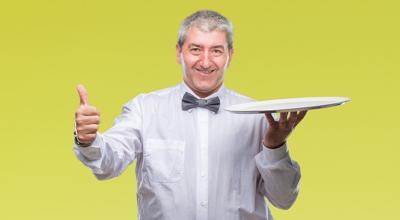 Happy Waiter