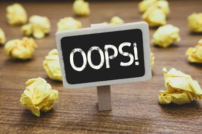 Oops error mistake
