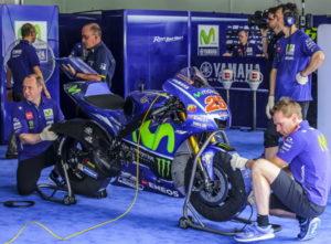 bike being services in garage
