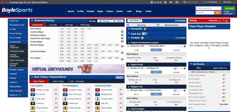 Boylesports Desktop