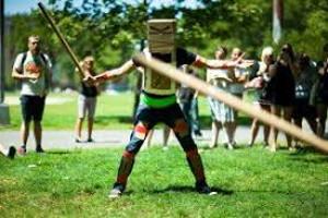 cardboard tube duelling