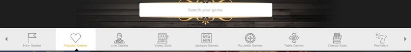 Casino Cruise Menu Bar