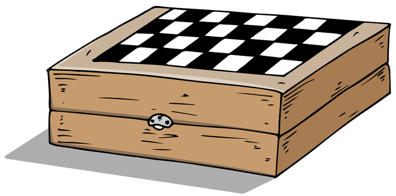 chess board cartoon