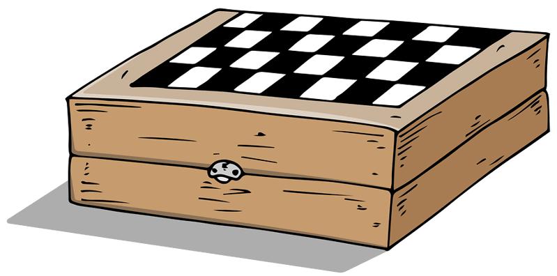 chess board cartoon
