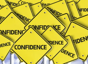 confidence yellow and black warning signs