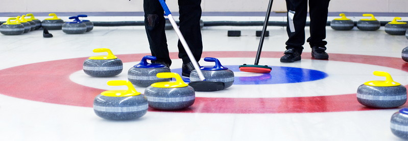 curling match in action