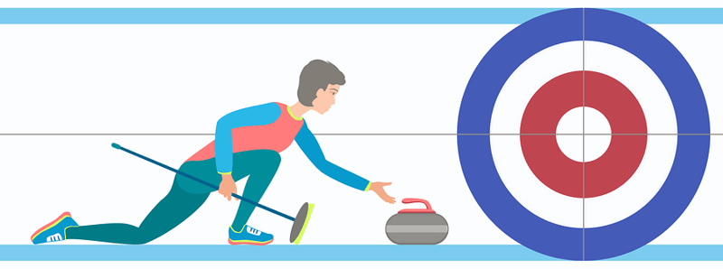 curling stone release graphic