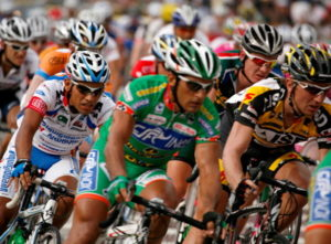 cycling road race close up