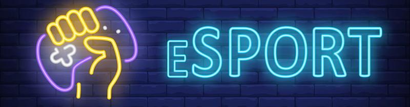 esports neon sign