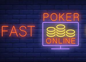 fast poker neon lights