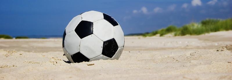 football on sand