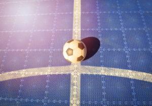futsal ball on pitch