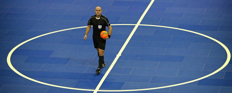 futsal referee on pitch