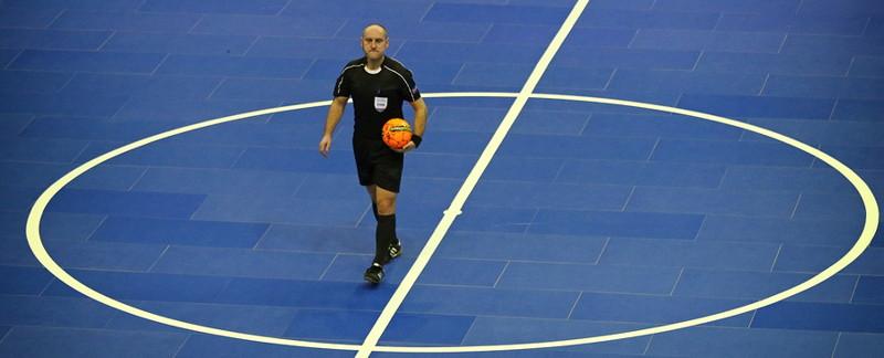 futsal referee on pitch