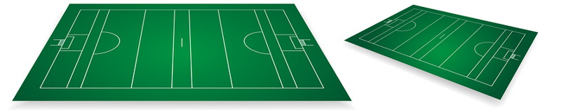 gaelic football pitch from an angle