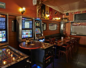 gaming machines in a bar