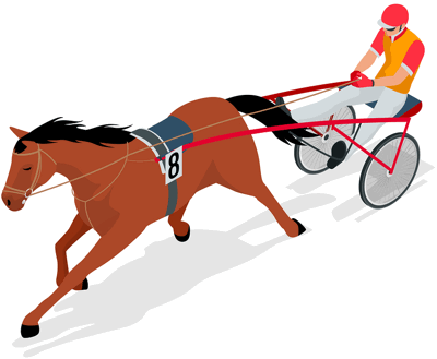 harness racer graphic