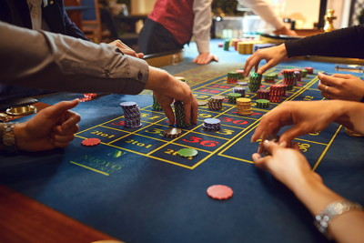 high and low stakes at roulette table